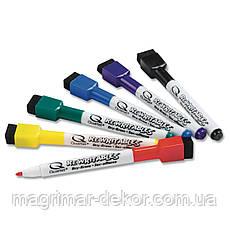 Маркеры 6 цветов Rexel с магнитом и губкой