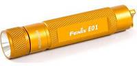 Фонарь Fenix E01 желтый