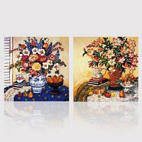 НХ-Artno каркас полотна двух наборов Живопись цветы и вазы в гостиной, оформленной картины 80cмx80cмx2