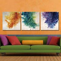 Dyc10025 3шт ландшафтного искусства печати готов повесить картины Цветной