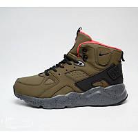 Мужские зимние кроссовки Nike Air Huarache High Top Brown