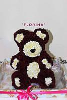 Ведмедик з живих квітів