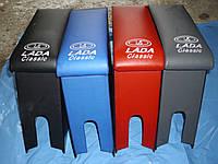 """Подлокотник ВАЗ 2101-2106 красный, серый, синий, черный """"Комфорт""""- вышивка"""