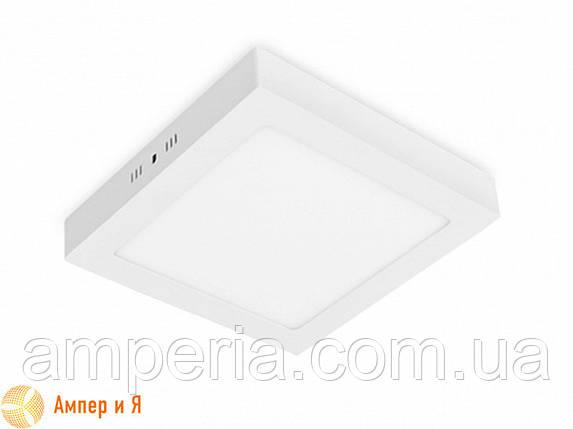Светильник светодиодный квадратный накладной Downlight EUROLAMP LED 12W 4000K, фото 2
