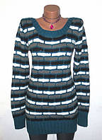 Шерстяной Полосатый Свитер Туника от Baogui Sweater Размер: 44-S, M