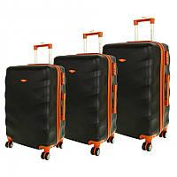 Комплект чемоданов RGL 6881 Черный, набор дорожных чемоданов на колесиках