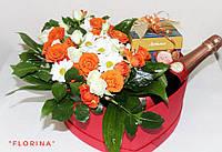 Святкова композиція з живих квітів