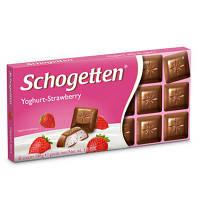 Шоколад молочний SCHOGETTEN YOGHURT-STRAWBERRY полуниця 100г (1/15)