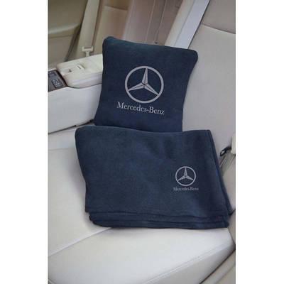 """Автомобильный плед в чехле с логотипом  """"Mercedes"""" цвет на выбор"""