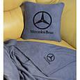 """Автомобільний набір: подушка і плед з логотипом """"Mercedes"""" колір на вибір, фото 8"""