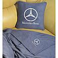 """Автомобільний набір: подушка і плед з логотипом """"Mercedes"""" колір на вибір, фото 6"""