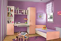 Мебель для детской комнаты Джерри (МДФ). Стенка в детскую +кровать