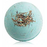 Бомбочка для ванны шарик с увлажняющим кремом зеленый чай розмарин 100г Бирюзовый
