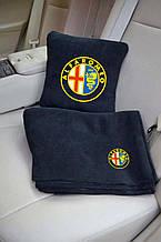 """Автомобильный плед в чехле с логотипом """"Alfa Romeo"""" цвет на выбор"""
