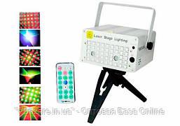 Портативная лазерная установка для дискотек и вечеринок XL-03 цветомузыка