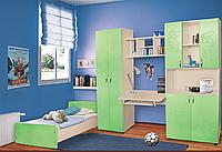 Мебель для детской комнаты Симба (МДФ). Стенка в детскую +кровать