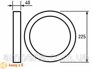 Светильник светодиодный круглый накладной Downlight EUROLAMP LED 18W 4000K, фото 2