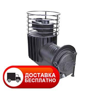 Малая банная печь с круглой сеткой с выносной топкой ПК-18УК, фото 2