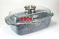 Гусятница (утятница) 5,5л с антипригарным покрытием и стеклянной крышкой (индукция) Edenberg EB-8007