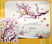 Дизайнерская наклейка Ветка сакуры со светодиодами