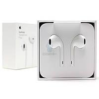 Оригинальные наушники Apple EarPods с пультом дистанционного управления и микрофоном (разъем 3.5 мм), в оригинальной, обновленной упаковке (MNHF2)
