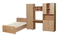 Мебель для детской комнаты Симба (ДСП). Стенка в детскую +кровать