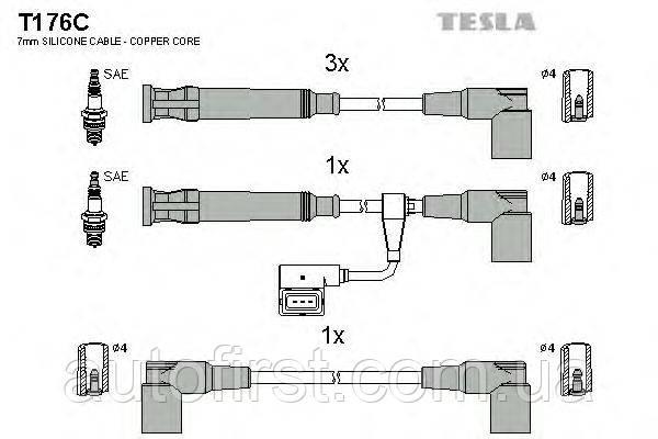 Комплект проводів запалювання Тesla T176C BMW
