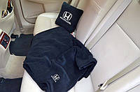 """Автомобильный плед в чехле с логотипом """"Honda"""" цвет на выбор"""