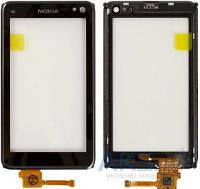 Тачскрин (сенсор) Nokia N8-00   c рамкой   Оригинал   черный
