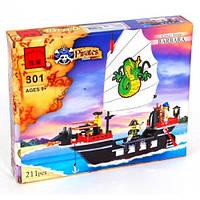 """Конструктор Brick 301 """"Пиратский корабль"""" 211 деталей"""
