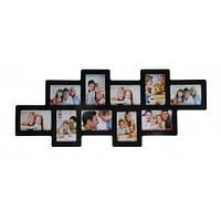 Коллаж-мультирамка для фото 10 в 1 Angel Gifts 112122В черная
