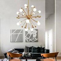 Zuoge Djbcy042 современный творческий стиль в форме бобового стебеля и металлического шарика с 18 головками люстры купить ZD-49196