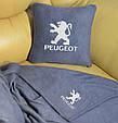 """Автомобільний набір: подушка і плед з логотипом """"Peugeot"""" колір на вибір, фото 3"""