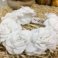 Ободок-веночек «Белые розы»