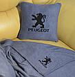 """Автомобільний набір: подушка і плед з логотипом """"Peugeot"""" колір на вибір, фото 5"""