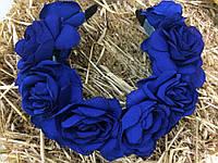 Ободок-веночек «Синие розы»