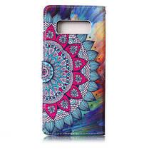 Половина Цветы Лаки Рельеф Pu Телефон Чехол для Samsung Galaxy Note 8 Цветной, фото 2