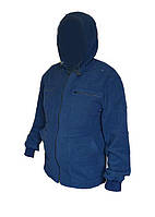 флисовая пайта синяя с капюшоном
