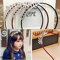 Корона обруч для волос детская корона диадема золотая аксессуары для волос