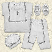 "Костюм для крещения мальчик ""Святковий"" короткий рукав."