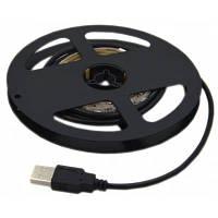 USB Питание водонепроницаемый 1М 6000K 5050 60 светодиодов полосы света черно-белый
