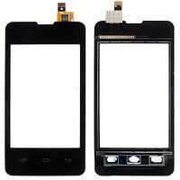 Тачскрин (сенсор) Prestigio MultiPhone 3350 Duo | Explay A351 | c рамкой | Оригинал | черный