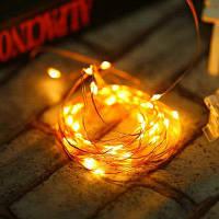 YWXLight 5M светодиодные Новогодние гирлянды на батарейках медный провод Звездное строку Тёпло-белый