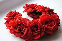 Ободок-веночек «Красные розы»