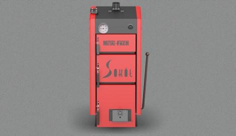 Котел твердотопливный Metal Fach Sokol SE-38 (48 кВт 380-420 м2) , фото 1