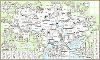 Обои-раскраски Карта Украины (с наклейками)  60*100C-100012, фото 1
