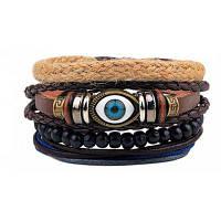 Мужские модные браслеты из бисера из бисера один размер