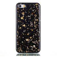Для Iphone 5S 5 Tpu Материал Клей Клей Gold Foil Ручной футляр Золотой