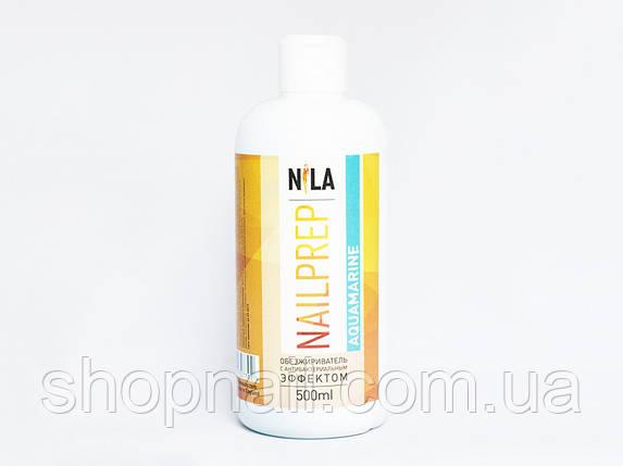 Nila Nail Prep - обезжириватель для ногтей с антибактериальным эффектом, 500 ml (Аквамарин), фото 2