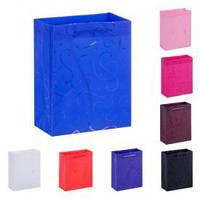 """Пакет подарочный РР """"Вензели"""" 39.5х31.5х9см, 12 штук в упаковке, с ручками, пакет для подарка, полиэтиленовый пакет сувенирный, пластиковый подарочный"""